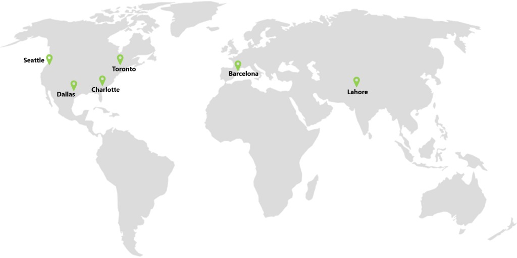 map showing OG locations worldwide