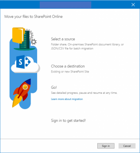 migration tool for sharepoint online by microsoft