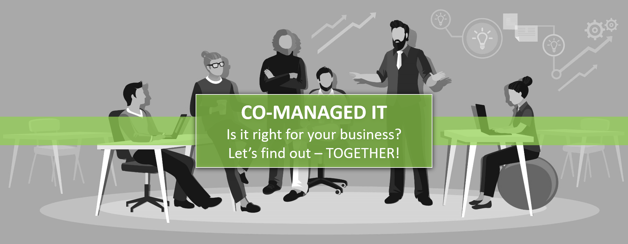co working and co managed space concept header image