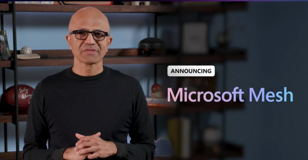 microsoft mesh announcement by satya nadella